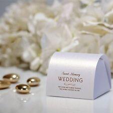 10x Gastgeschenk Geschenkboxen  Geschenkverpackung Hochzeit Wedding Weiß Gold