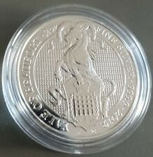 2oz (OUNCE) FINE 999 SILVER 2019 QUEENS BEAST YALE COIN NEW IN CAPSULE