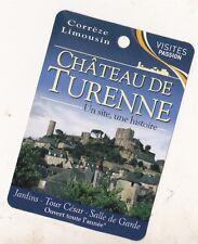 CHATEAU DE TURENNE - PETITE CARTE PUBLICITAIRE - EDITION VISITES PASSION