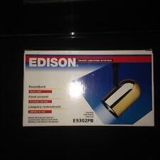 EDISON E9302PB Brass Cylinder Black Baffle Roundback Track System Light Fixture