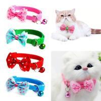 Dog Cat Pet Bowknot Cute Bow Tie Bell Adjustable Puppy Kitten Necktie Collar SQ