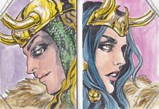2014 Marvel Premier Thor Ragnarok Male Female LOKI Art Sketch Booklet 1/1