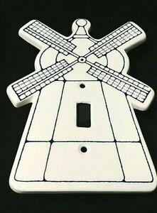 "Dansk Windmill Electric Switch Cover Single Toggle Ceramic 7"" Dansk for Kids"