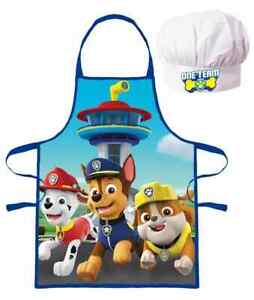 Kids Apron Chef Hat Set Baking Cooking Aprons For Children Boys Girl Paw Patrol