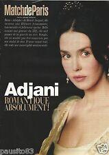 Coupure de presse Clipping 2002 Isabelle Adjani    (3 pages)