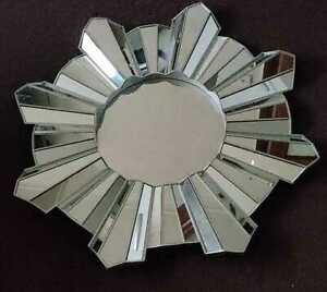 Contemporary Hanging Wall Mounted Silver Mirror Sunburst Home Decor Round 65cm