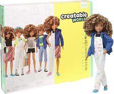 NEW Mattel Creatable World Deluxe Character Kit Customisable Doll - Curly Hair