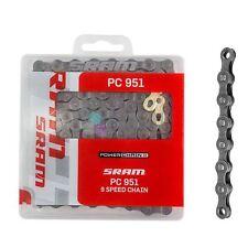SRAM PC-951 PowerChain II 9 Speed MTB Bike Chain Biike Cycle Gold Joint