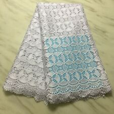 African Cord Lace Fabric Wat 00006000 er Soluble Lace Stones High Quality Mesh Party Dress