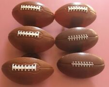FOOTBALL CUPCAKE DECOR RING LOT (6) FOOTBALL SHAPED RINGS!! SUPER BOWL PARTY!!