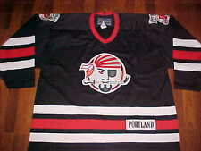 Bauer AHL 1990/91-2005/06 Portland Pirates Black Red White Hockey Jersey XL
