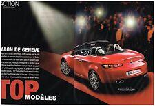 Coupure de presse Clipping 2006 (6 pages) Salon de l'auto à Genève
