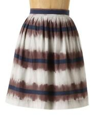 EDME & ESYLLTE Anthropologie Inkwell Skirt ombre tie dye striped mini XS 0
