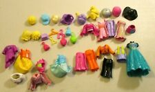 POLLY POCKET MAGNETIC CLOTHES, HAIR, ACCESSORIES LOT- SEE PICS-