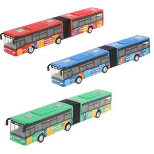 1:64 Alloy City Bus Diecast Model Pull Back Toy Collectibles for Kids