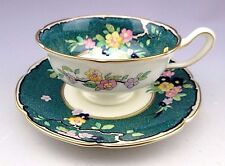 Vintage Royal Doulton England Green Tea Cup and Saucer