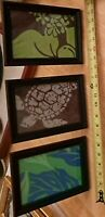 "Set of 3 Black Wood Carved Picture Frames 6x8"" for 5x7"" Pictures or Photos"