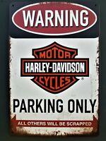 ⭐ Blechschild Harley Davidson Retro 20 x 30 cm Vintage Nostalgie Metallschild  ✅