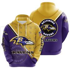New listing Baltimore Ravens Hoodies Mens Casual Sweatshirt Fans Football Pullover Jacket