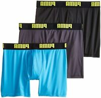 PUMA Men's 3 Pack Boxer Brief, Bright Blue, Large, Bright Blue, Size Large VeQq