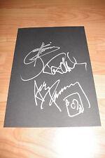 KISS Simmons Stanley Frehley signed Autogramme auf 20x30 cm Karteikarte InPerson
