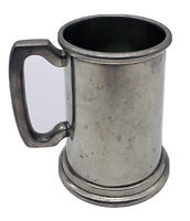Pewter Tankard Glass Bottom Hand Made By Craftsmen In Sheffield England 18 OZ.