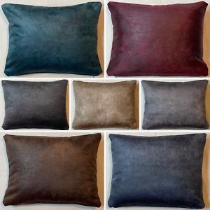 Handmade Rectangle Rustique Velvet Cushion Cover Soft Feel Pillow Case Home Sofa