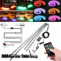 4x LED RGB Neon Strip Light Under Car Tube Underglow Underbody with IR Control