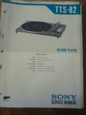 Sony TTS-82  Stereo Turntable Service Manual