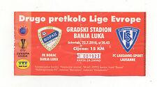 Orig.Ticket   Europa League 10/11   BORAC BANJA LUKA - LAUSANNE SPORTS ! SELTEN