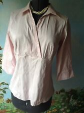 Marks & Spencer Women's 3/4 Sleeve Pink Blouse Top Shirt Size 18 UK/ 16 US