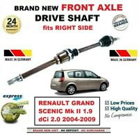FOR RENAULT GRAND SCENIC Mk II 1.9 dCi 2.0 2004-2009 FRONT AXLE RIGHT DRIVESHAFT