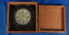 Polaris Vintage Floating Ship's Compass In Wood Box M.C. Co. 4""