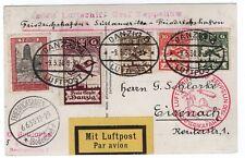 1930 Graf Zeppelin Flight Friedrichshafen-Friedrich shafen Danzig Franking Ppc