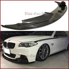 P Look 3PCS Type Carbon Fiber Front Lip For 11-15 BMW F10 528i 535i 550i M-Sport