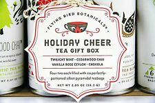 MACKENZIE CHILDS HOLIDAY CHEER TEA TIN GIFT SET MINT CHAI CEYLON CHOKOLA NEW BOX