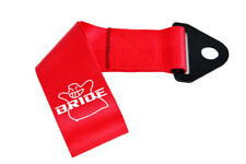 JDM High Strength BRIDE Tow Strap for Front Rear Bumper Towing Hook-Red