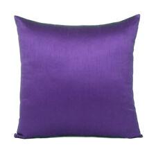 Cover Solid Color Sofa Pillow Case Cushion Square Home Decor Voilet Purple 18x18