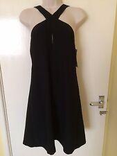 Zara Black Short Dress With Open Back Straps Size L, Uk12