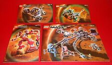 LIFE ON MARS LEGO INSTRUCTION MANUALS ONLY NO LEGO'S  # 7317, 7312, 7314 & 7311
