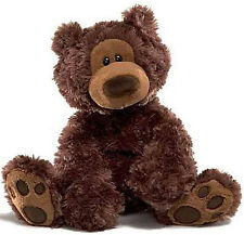 Gund Philbin Chocolate Brown Bear 12 inch, ages 1+, NEW with Ear Tag