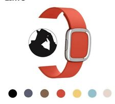Replacement Strap Band Two Piece Genuine Leather Wrist Belt Part For Apple Watch
