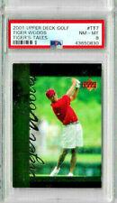 2001 Upper Deck Golf Tiger Woods #TT7 PSA 8