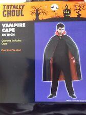 "NWT CAPE Adult 54""  Vampire Magician Wizard Halloween Costume OSFM"