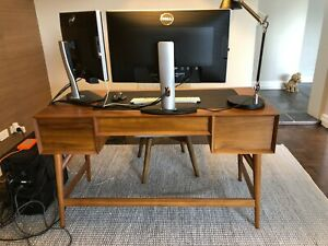 WEST ELM - ACORN MID CENTURY DESK - RRP $1,099 and for $179 DELIVERY