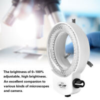 Microscope Camera Dimmable 144 LED Bulbs Lighting Brightness Ring Lamp 110V/220V