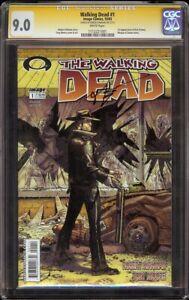 Walking Dead # 1 CGC 9.0 SS White (Image, 2003) Robert Kirkman Signature