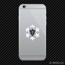 Massachusetts Snowflake Cell Phone Sticker Mobile MA snow flake snowboard skiing