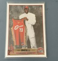 2003 LEBRON JAMES NBA DRAFT DAY ROOKIE RC CARD CAVS RP