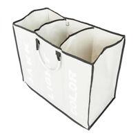 3 Lattice Folding Laundry Sorter Hamper Organizer Washing Clothes Basket Storage